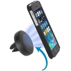 Excelvan Universal Air Vent Magnetic Car Cellphone Mount Holder  -  BLACK - R$ 6,80