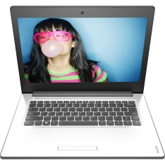 "Notebook Lenovo Ideapad 310 Intel Core i3 4GB 500GB Tela LED 14"" Windows 10 - Branco por R$ 1614,99"