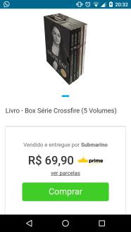 Box Crossfire 5 Volumes por R$69