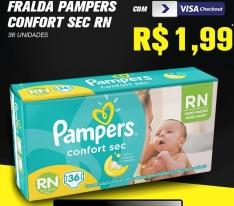 Fralda Pampers Confort Sec RN 36 Unidades - R$2
