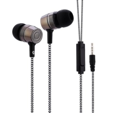 Fone de ouvido 3.5MM cabo de pano (Frete incluso aos 6 R$)