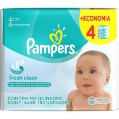 Lenços Umedecidos Pampers - com 4 pacotes de 48 = 192 unidades - R$ 10,36!!