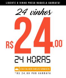 24 vinhos em 24 horas por R$ 24