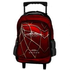 Mochilete Carrinho Spider, 2 Rodas, Puxador em metal, Alça de mão, Bolso Frontal, Vermelha  R$ 49.90