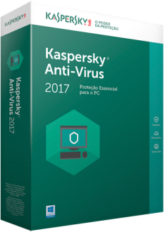 Kaspersky Anti-Virus 2017 Key (1 ano / 1 PC) R$17