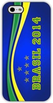 Capa iPhone 5 Custom4u Brasil 2014 por R$ 0,10