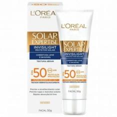 Protetor Facial L'Oréal Paris Solar Expertise Invisilight FPS 50 50g por R$45
