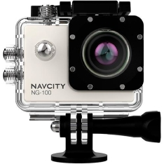 Câmera Esportiva Navcity NG-100 Prata 12MP Full HD + Case à Prova d'água 30m + Selfie Stick por R$ 250