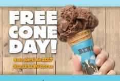 04/04 - Free Cone Day Brasil - Casquinha Ben&Jerry's Gratis