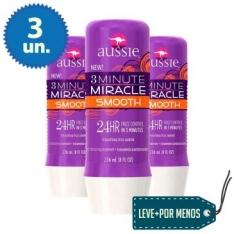 3 Tratamentos Aussie Smooth de 3 Minutes Miracle 236ml por R$60