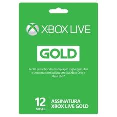 Xbox Live Gold - 12 Meses por R$ 112