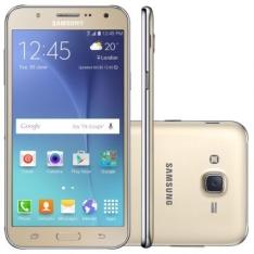 Smartphone Samsung Galaxy J7 Duos J700M Dourado - Dual Chip, 4G, Tela 5.5, 13MP + Frontal 5MP Com Flash, 16GB - R$999,90