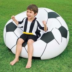 Cadeira Inflável Bestway Bola Beanless Soccer - Preta/Branca Por: R$ 32,01
