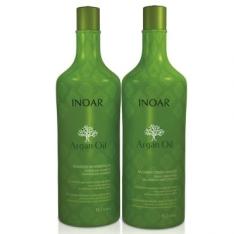 Kit Inoar Argan Oil: Shampoo 1L + Condicionador 1L por R$53