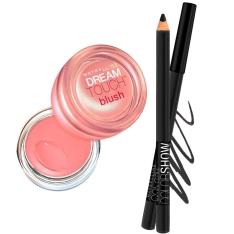 Kit Maybelline com Blush Dream Touch Mauve + Lápis de Olhos Color Show Preto por R$22