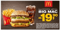 McOferta Média Big Mac R$ 20