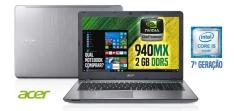 "Notebook Acer i5 8GB 1TB 15,6"" NVIDIA GeForce 940MX - R$ 2.599"
