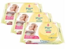 (BUG) Kit Johnson's Baby Toalhas Umedecidas Recém-Nascido 96 unidades - Leve 3 Pague 2