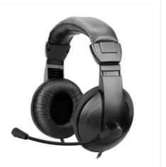 Headset Lite Multimídia Preto R$19.90