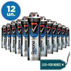Leve Mais Pague Menos: 12 Desodorantes Aerosol Rexona Men Active 90g  R$94.90