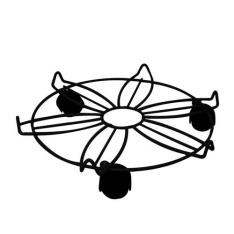 Suporte para Botijão Metaltru Flor com Rodas - Médio por R$ 1