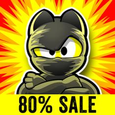 Ninja Hero Cats Premium [80% de desconto]