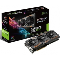 PLACA DE VIDEO ASUS GEFORCE GTX 1070 STRIX ROG STRIX-GTX1070-O8G-GAMING 8GB GDDR5 PCI-EXP - R$1895