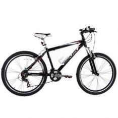 Bicicleta Mercury HT, Aro 26, 21 Marchas, Quadro em alumínio tamanho 17, V-Brake em Alumínio, Preto - Houston - R$699,00
