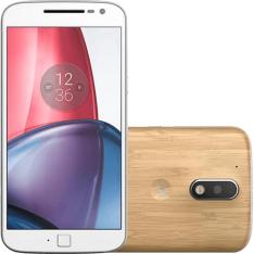 """Smartphone Moto G 4 Plus Dual Chip Android 6.0 Tela 5,5"""" 32GB 4G Câmera 16MP - Bambu por R$ 899"""