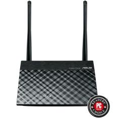 Roteador Wireless ASUS RT-N300, 300Mbps, 2 Antenas, 5dbi, 3-em-1 Roteador/Repetidor/Access Point, Configuração Fácil, VPN, Grande Alcance