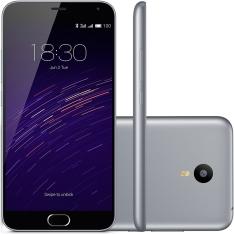 Smartphone Meizu M2 Note, Processador Octa Core, Android 5, Tela 5.5´, 16GB, 13MP, 4G, Dual Chip, Híbrido - Cinza - R$ 799,00