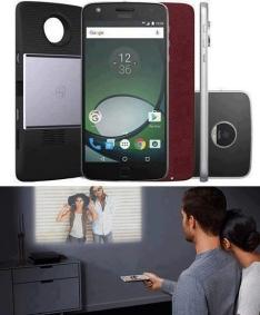 "Smartphone Moto Z Play Projector Edition Dual Chip Android 6.0 Tela 5.5"" 32GB Câmera 16MP - Preto por R$ 1988"