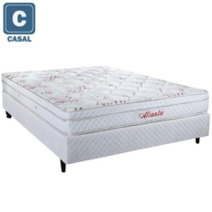 CAMA BOX + COLCHÃO HERVAL CASAL ATLANTA