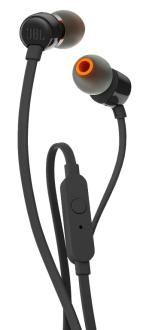 Fone de Ouvido Intra Auricular Com Microfone JBL T110 Preto
