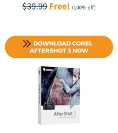 Corel aftershot 3 de R$135,00(100% de desconto)