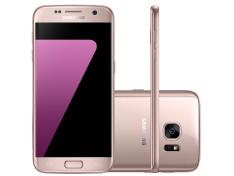 """Smartphone Samsung Galaxy S7 Rosé com 32GB, Tela 5.1"""", Android 6.0, 4G, Câmera 12MP - PREÇO PARCELADO e POSSIBILIDADE DE GANHAR CAIXA DE SOM"""