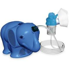 Inalador Infantil Inalafante Azul - NS Inaladores  R$ 150,86