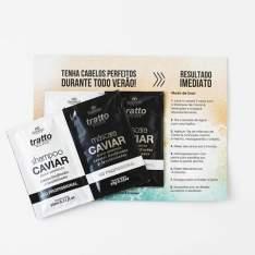 Amostra grátis shampoo e máscara caviar da cosmezi itália - R$ GRÁTIS