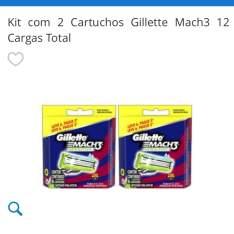 Kit com 2 cartuchos Gillete mach3 12 cargas