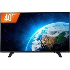 "TV LED 40"" Full HD AOC LE40F1465 HDMI USB Conversor Digital - R$1.350"
