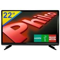 "TV LED 22"" Philco Full HD com Conversor Digital Integrado,  PH22D16 - R$589"