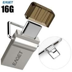 EAGET OTG 2 EM 1 TIPO C FLASH DRIVE 16GB - R$44