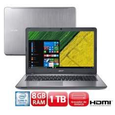 Notebook Acer Aspire F5-573-51LJ com Intel® Core™ i5-7200U, 8GB, 1TB por R$ 1979