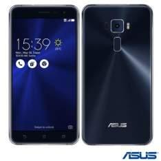 Zenfone 3 Preto Asus, com Tela de 5.5, 4G, 64 GB e Camera de 16 MP - ZE552KL por R$ 1254