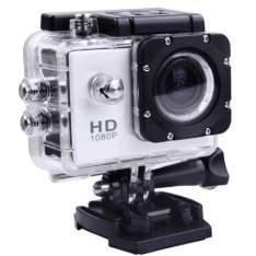 Câmera P Ação Sports Full Hd 1080p Zoom 4x 60 Fps Tj-4000 Hdmi Prova Agua Mergulho 30 Metros Moto  por R$ 90