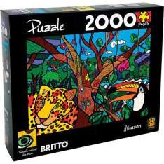 Quebra-Cabeça Romero Britto Amazon 2.000 Peças - Grow por R$ 60
