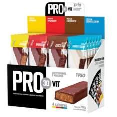 Trio Pro30Vit 4 sabores de Barras de Proteína com 24 unidades - R$ 56,90