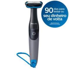 Aparador de Pelos do Corpo Philips BG1025/15 - Pente de Ajuste, 100% À Prova d'Água ,Pilha por R$ 70