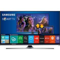 """Smart TV LED 40"""" Samsung 40J5500 Full HD com Conversor Digital 3 HDMI 2 USB Wi-Fi 120Hz"""