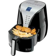 Fritadeira Sem Óleo Mondial Air Fryer Digital Premium AF-04 2,7L Preta